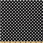 Camelot Flannel Polka Dots Black/White