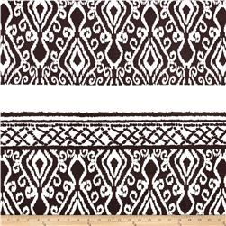 Stretch ITY Knit Ikat Brown White