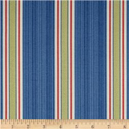 Waverly Williamsburg Fincastle Stripe Cornflower