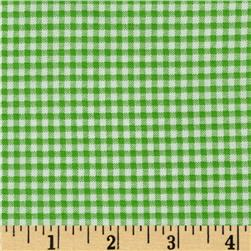 Basic Training Small Gingham Lime Green/White