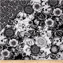 Black Tie Affair Double Sided Quilted Large Floral Black