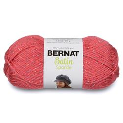 Bernat Satin Sparkle Yarn Coral