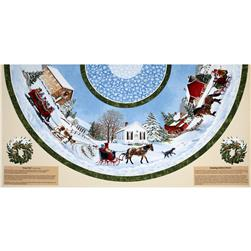 Sleigh Ride 58 In.Tree Skirt Multi
