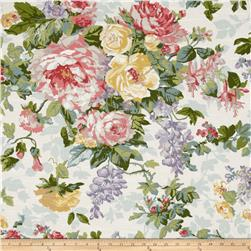 P Kaufmann Hardwick Heath Slub White Tea Fabric