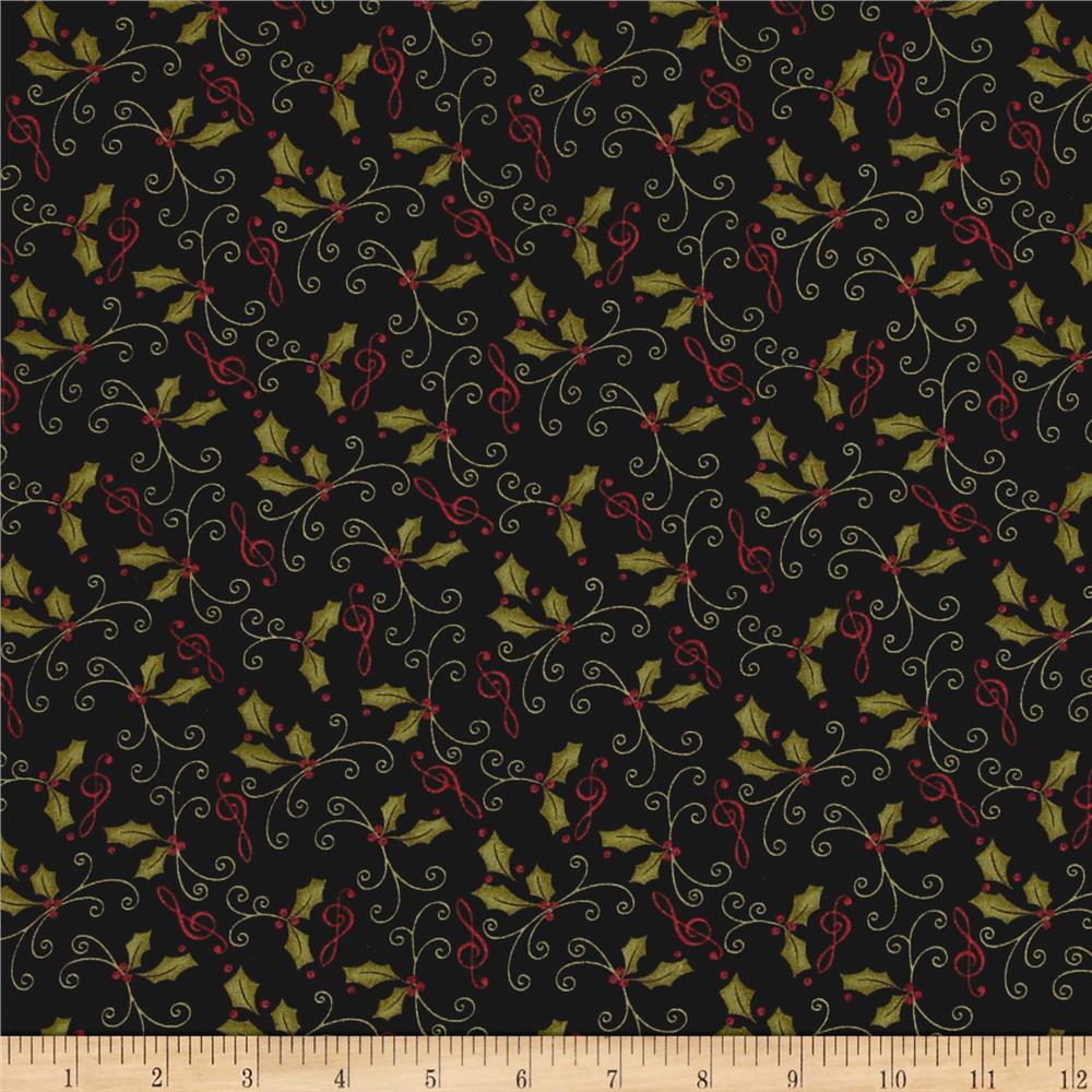 Moda Delightful December Holly Ebony