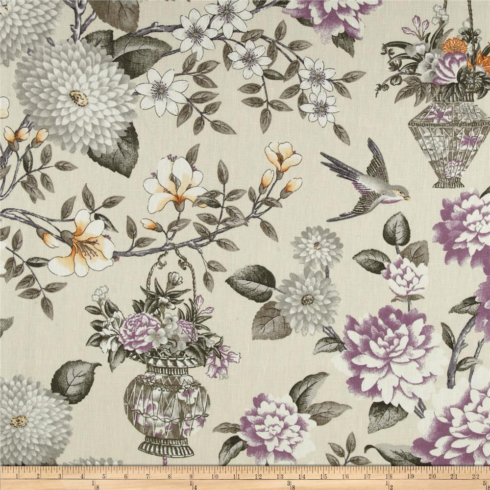 Waverly Williamsburg Lightfoot Garden Linen Black Orchid