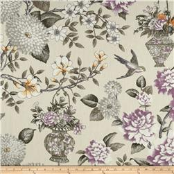Waverly Williamsburg Lightfoot Garden Linen Black Orchid Fabric