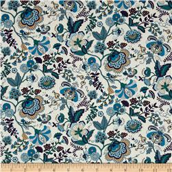 Liberty of London Contemporary Classic Tana Lawn Mabelle Turquoise/Purple