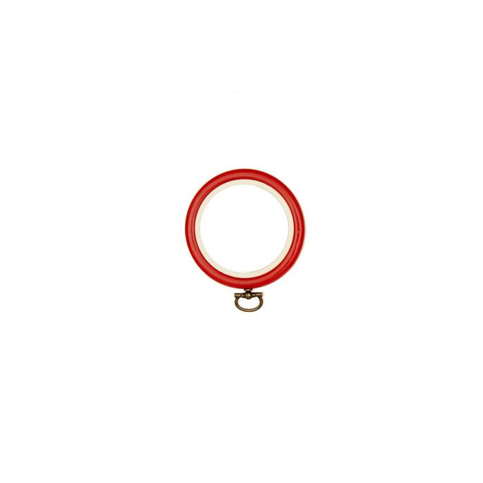 "Westex 2 1/2"" Red Flex Embroidery Hoop"