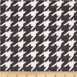 Embossed Ponte de Roma Houndstooth Grey/White Fabric
