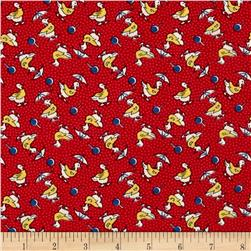 Summer Days Ducks in Slickers Red