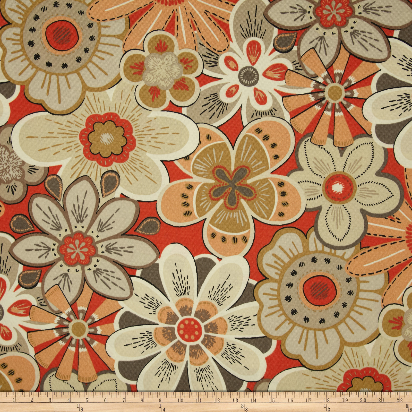 Swavelle/Mill Creek Indoor/Outdoor Glynis Red Pepper Fabric