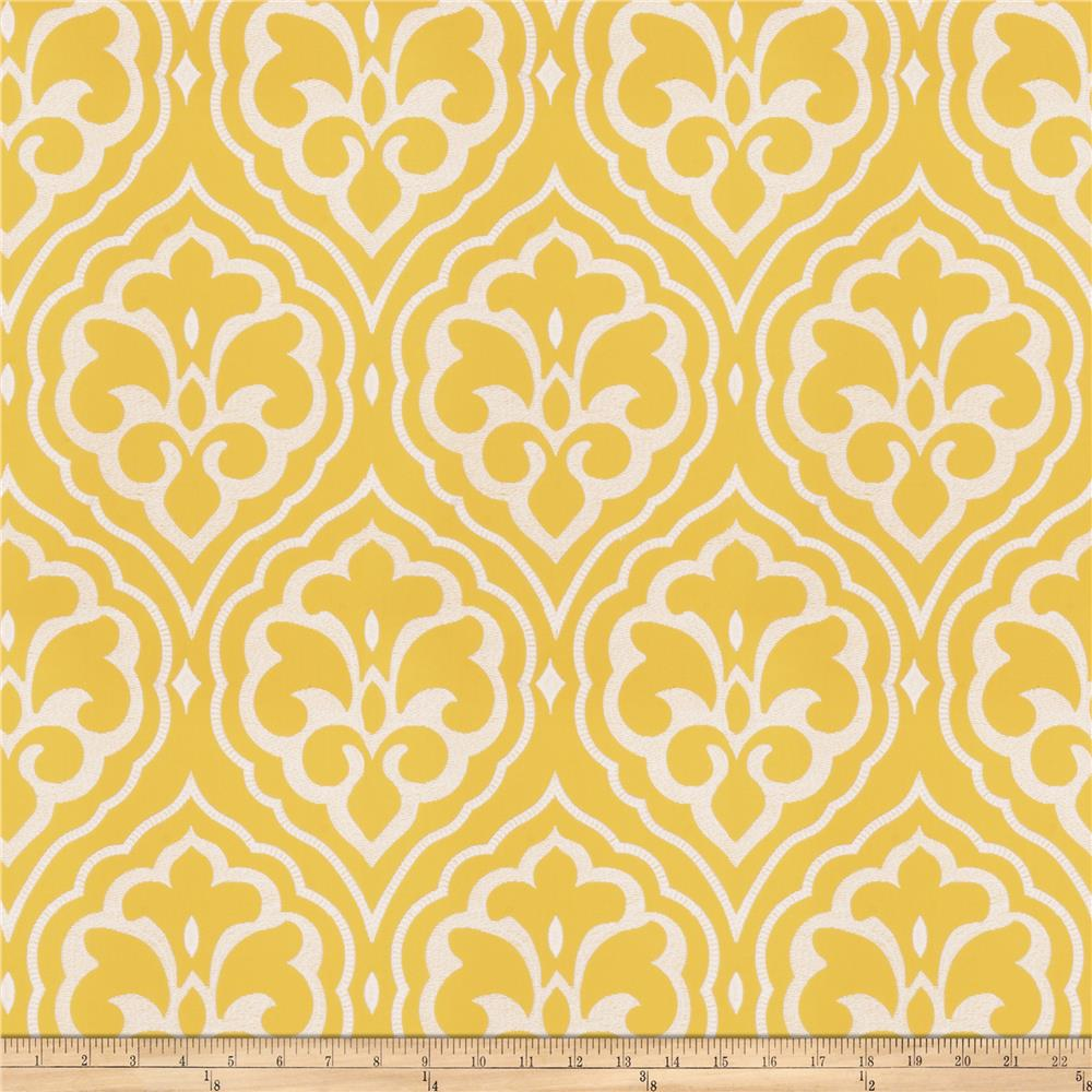 Fabricut Aspire Damask Lemon