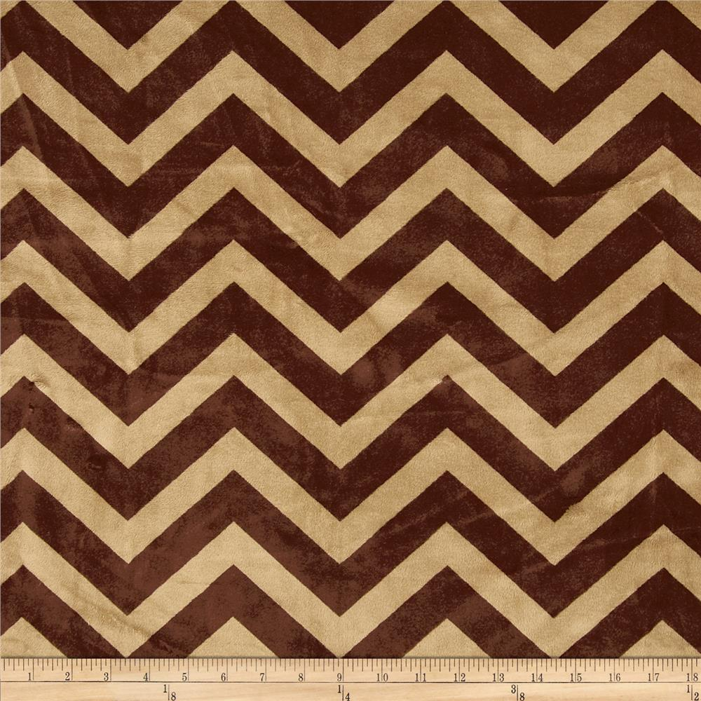 Minky Cuddle Chevron Cappuccino/Brown