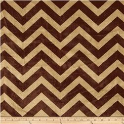 Minky Cuddle Chevron Cappuccino/Brown Fabric