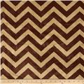 Shannon Minky Cuddle Chevron Cappuccino/Brown