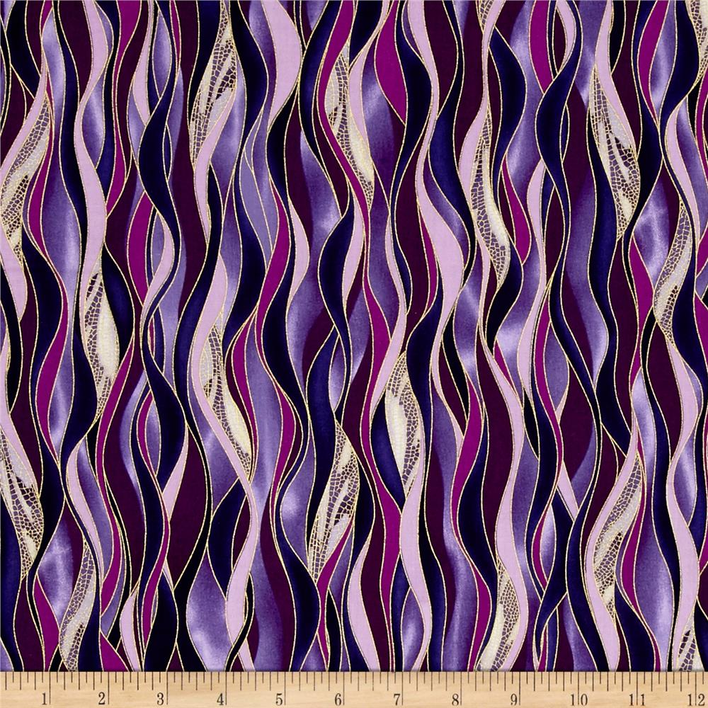 Kanvas Dance Of The Dragonfly Metallic Dancing Waves Plum