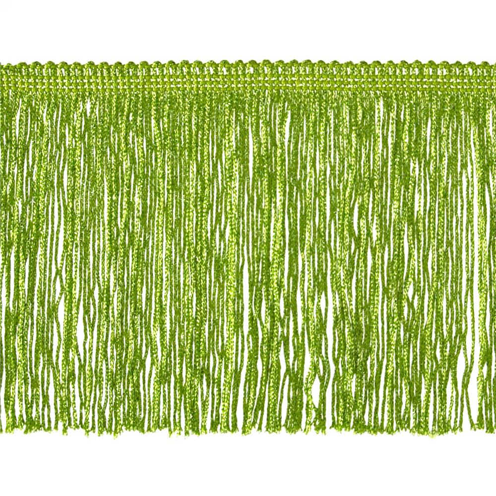 "6"" Metallic Chainette Fringe Trim Lime"