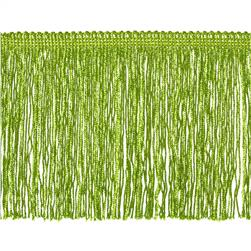 6'' Metallic Chainette Fringe Trim Lime