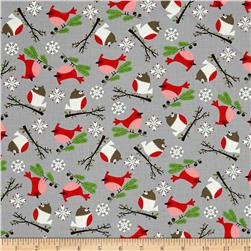 Moda Jingle Birds Bird Friends Gray