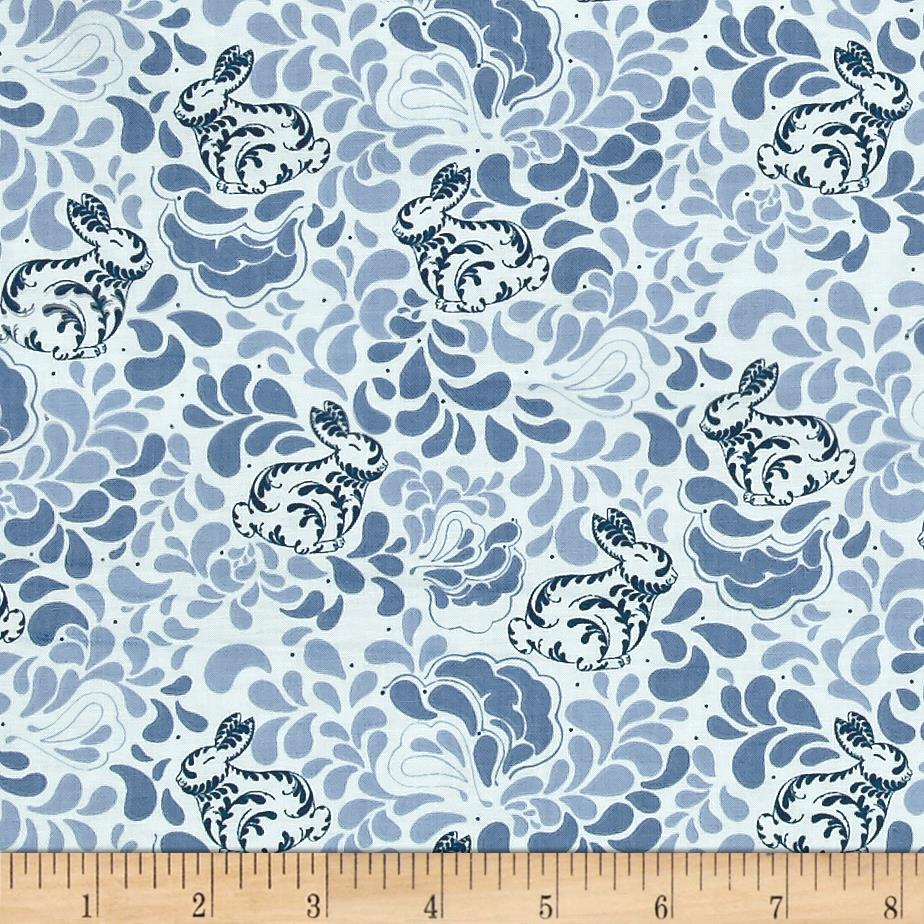 Sew it quilt it love it bunnies blue discount for Cheap sewing fabric