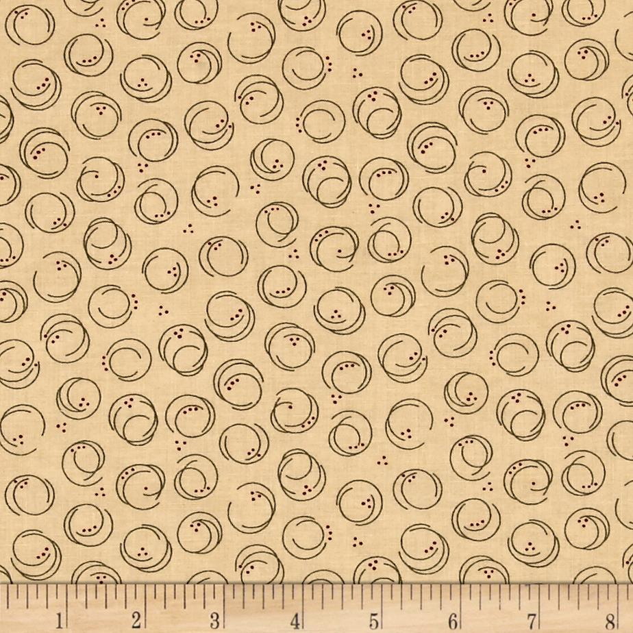 Moda Forever Green Circle Print Parchment