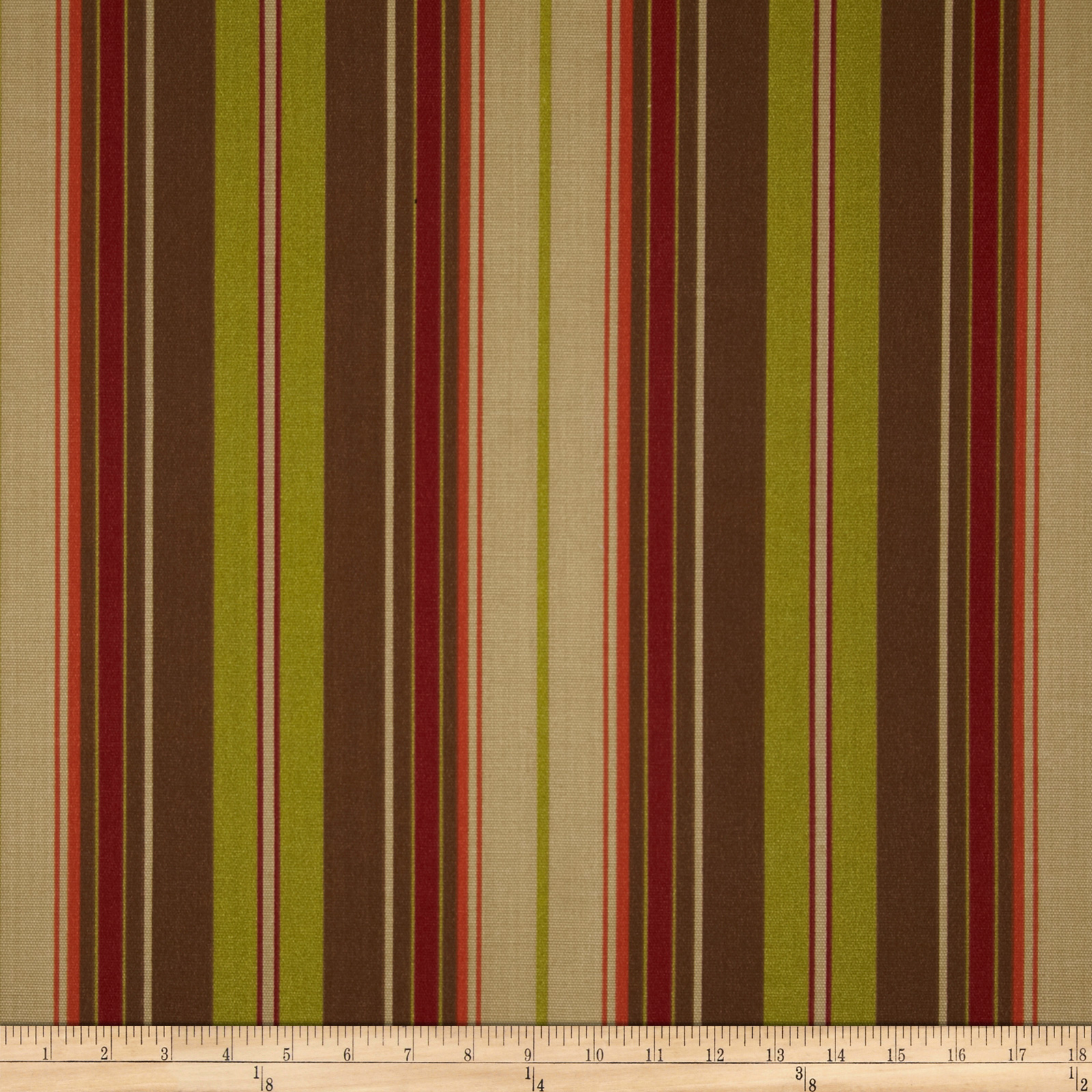Premier Prints Indoor/Outdoor Verenda Stripe Autumn/Natural Fabric