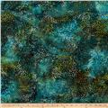 Indian Batik Cascades Dots Teal