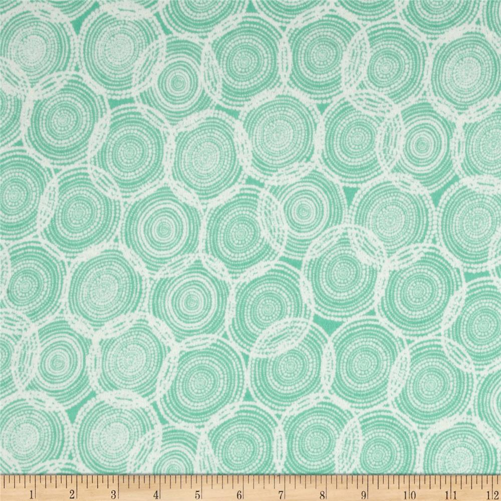 Valori Wells Quill Interlock Knit Mod Circles Seaglass Aqua