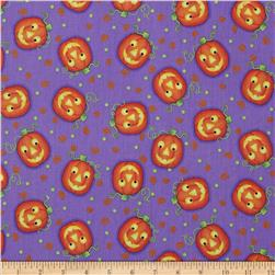 Tricks And Treats Pumpkin Tossed Purple