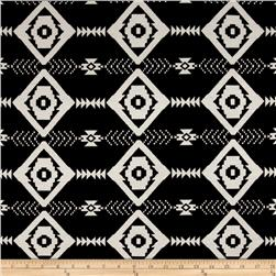 Jersey Knit Aztec Black White