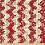 American Beauty Bandana Stripe Red