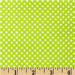 Kanvas Safari Playground Flannel Micro Diamonds Green