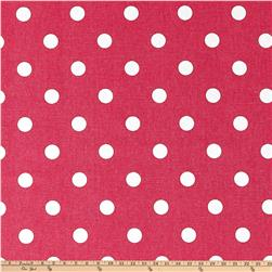 Premier Prints Polka Dot Candy Pink/White Fabric