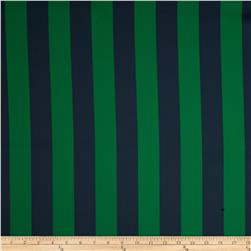 RCA Vertical Stripe Blackout Drapery Fabric Navy/Green