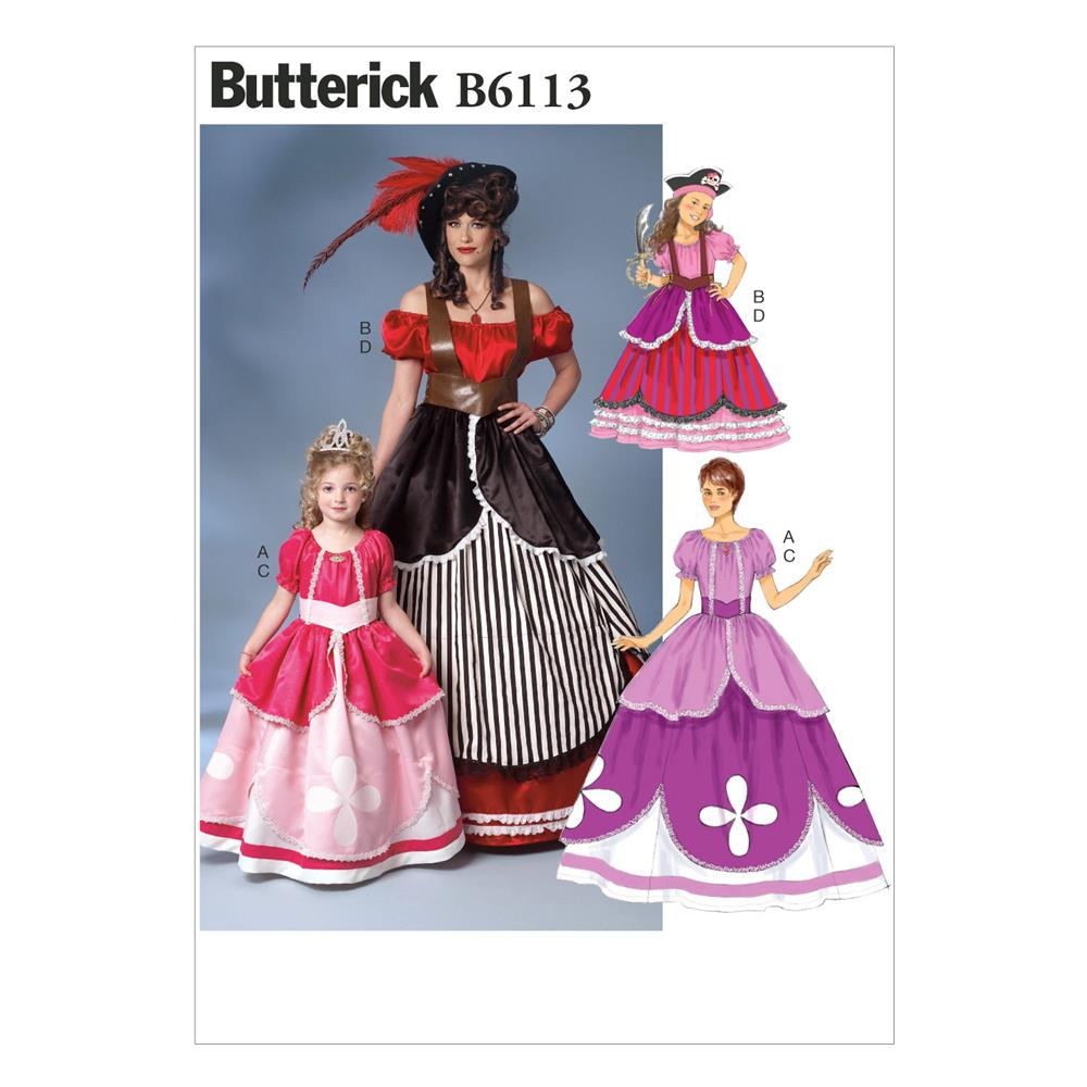 Butterick Misses'/Girls' Costume Pattern B6113 Size KID