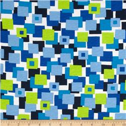 Scout Collection Athletic Club Cotton Jersey Knit Blocks Blue/Green