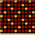 Kaufman Back To School Apples Black