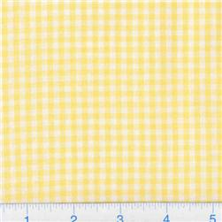 Woven 1/8'' Cotton Gingham Yellow