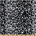 Stretch Cotton Sateen Leopard Grey/Black