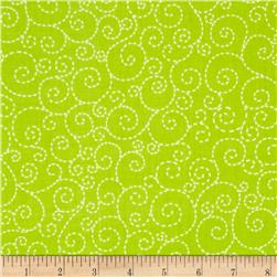 Timeless Treasures Stitch Scroll Lime Fabric