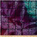 Indian Batik Squares Purple