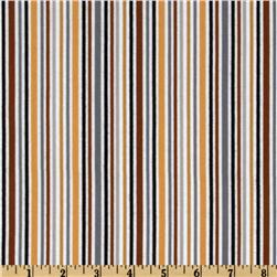 Riley Blake Zoofari Flannel Stripe Brown