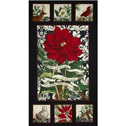 Joyeux Noel 24 In. Panel Black