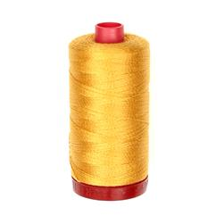 Aurifil 12Wt Embellishment and Sashiko Dreams Thread Orange Mustard