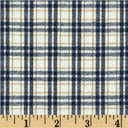 Moda Lakeside Gatherings Wovens Fin & Feather Plaid Cloud-Navy-Timeworn