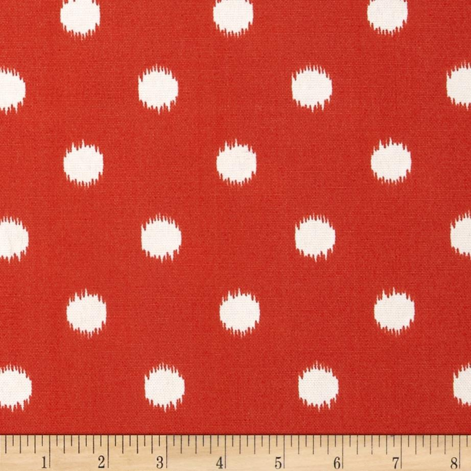 Premier Prints Indoor/Outdoor Ikat Dots Salmon
