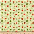 Riley Blake A Merry Little Christmas Merry Stars Green
