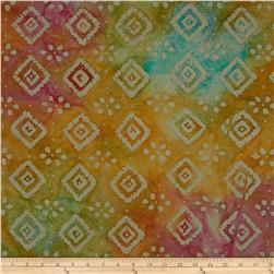 Indian Batiks Diamond Pink/Teal