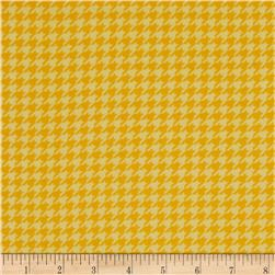 Kimberbell Little One Flannel Too! Flannel Houndstooth Sunny Yellow